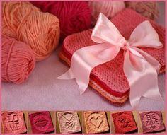 Valentine's Day washclothes patterns