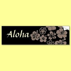 Mixed Gray Hibiscus Design Bumper Stickers by thehibiscus