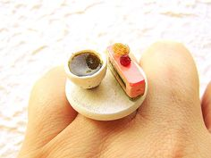 Kawaii Japanese Ring Green Tea And Cake by SouZouCreations on Etsy, $12.50