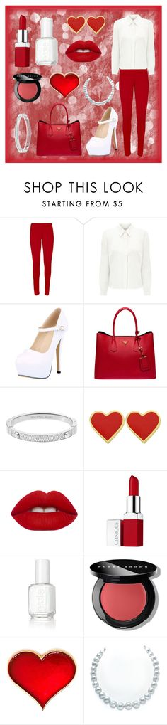"""""""Bez naslova #200"""" by ajna-cxxv ❤ liked on Polyvore featuring WearAll, Eastex, Prada, Michael Kors, Lime Crime, Clinique, Essie, Bobbi Brown Cosmetics, women's clothing and women"""