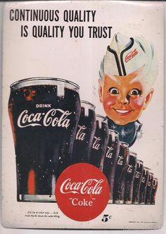 Chapa de CocaCola original, impresa en Francia. 14,5 x 20,5 cms