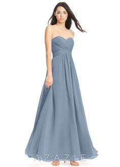 752cbe0251 Azazie Yazmin Bridesmaid Dress - Dusty Blue
