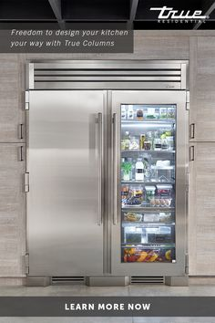 "Paired with a 30"" Freezer, the 30"" Glass Door Refrigerator Column means complete control and complete freedom for homeowners and designers alike. Pictured with 60"" Joining Kit."