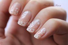 wedding lace nails.