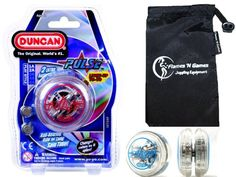 #PopularKidsToys Just Added In New Toys In Store!Read The Full Description & Reviews Here - Duncan PULSE LED YoYo (Red) Professional Light-Up Bearing String Tricks Yo Yo + Travel Bag! BATTERIES INCLUDED! - How can you improve one of the best loopers in the market? How about a light show! Duncan took the shape of their Speed Beetle and added motion-sensing LED lights to add a new visual dimension to your yo-yoing! With a crystal clear body, silver ink imprint, and pulsating li