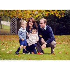 This image was taken in late October in the grounds of Kensington Palace, by photographer Chris Jelf. The Duke and Duchess released it on Dec. 18 2015 as an early Christmas present to their supporters. Prince William keeps an eye on playful George, while Kate balances Charlotte on her knee. Photo: © Twitter
