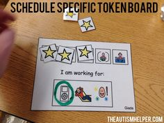 Token boards provide a means of giving students reinforcement without constantly have cheetos or iPad breaks. Find tips for making schedule specific token boards on the blog! From theautismhelper.com #theautismhelper