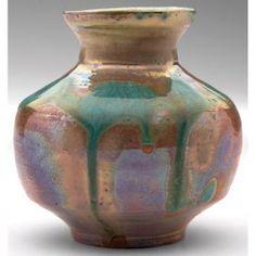 100: Nice Pewabic vase, bulbous shape : Lot 100