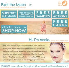Free Photoshop actions, storyboards, Facebook Timeline Cover templates, card templates, vintage frames, textures, and more from Paint the Moon Actions!