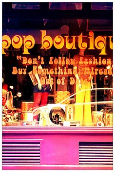 Pop Boutique - recycling vintage & retro clothing from the 50's ,60's,70's and 80's.