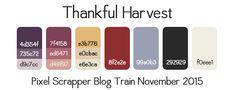 Nov 2015 Blog Train - Working | Pixel Scrapper digital scrapbooking forums