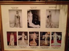 All the women have gotten married in the same wedding dress since the 1800's!