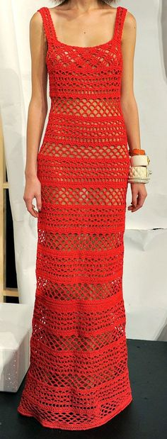 Ivelise Feito à Mão: Vestidos Longos Em Crochê