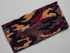 1Piece Cotton wide hairband Military camouflage elastic headbands Yoga Sports Hair