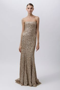 monique lhuillier- golden starlet via @pikaland  So beautiful, reminds me a little of the dress Ariel wears at the end of the Little Mermaid!