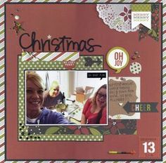 Project Ideas for Simple Stories - DIY Christmas Collection - 12 x 12 Double Sided Paper - Christmas Countdown