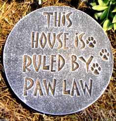 Gostatue Mold Dog Plaque Plaster Concrete Mould Paw Law | eBay …