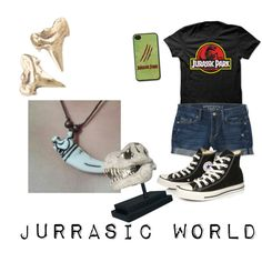 Jurassic World Outfit by madisontibbetts on Polyvore featuring polyvore fashion style Aéropostale Converse Reagan Charleston