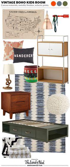 Design Spotlight: Fresh Bohemian Boys Bedroom Vintage Stlye