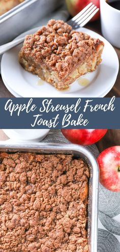 Apple French Toast, French Toast Bake, Make Ahead Breakfast, Breakfast Recipes, Yummy Treats, Yummy Food, Apple Streusel, Food Obsession, Fun Easy Recipes