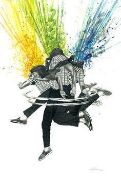Zachariah Johnsen explosiones de color « Cultura Colectiva Las transparencias de acuarela, el uso de la pluma y lápiz hacen de este trabajo una conjunción de técnicas y formas de trabajo artístico. Con obras llenas de escenas violentas, monstruos y criaturas fuera de lo común, Zach Johnsen y su magnífica imaginación nos llevan a escenarios que explotan en color.