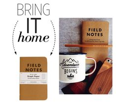 """Bring It Home: Field Notes Graph Paper"" by polyvore-editorial ❤ liked on Polyvore featuring interior, interiors, interior design, home, home decor, interior decorating and bringithome"