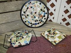 Vintage Mid Century Modern Tile Trivets Round Square Octagon Hot Plates by EvenTheKitchenSinkOH on Etsy