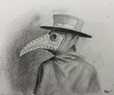 Scary, Creepy Horror, Creepy Stuff, Plague Doctor, Sketches, Gallery, Artist, Animals, Graphite