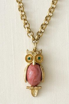 Stella and Dot Owl Charm Pendant Necklace
