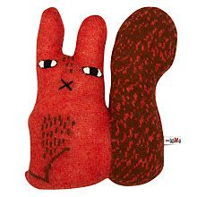 Buy Donna Wilson Creatures Rusty the Squirrel Cushion, Orange Online at johnlewis.com