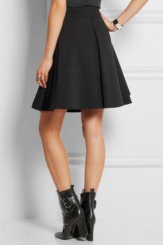 Alexander McQueen|Ruffled wool-blend scuba mini skirt|NET-A-PORTER.COM