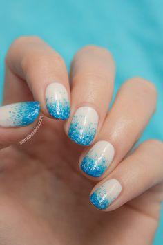 Blue gradient nails - click for more details.