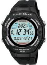 CASIO watch SPORTS GEAR sports gear runners model tough solar lap / split up 120 books time memory mens watch Mens Watches For Sale, Cheap Watches For Men, Cool Watches, Casio Vintage, Jewelry Showcases, Seiko Watches, Watch Sale, Sport Watches, Black Rubber