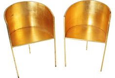 Gold-Leaf Iron Chairs