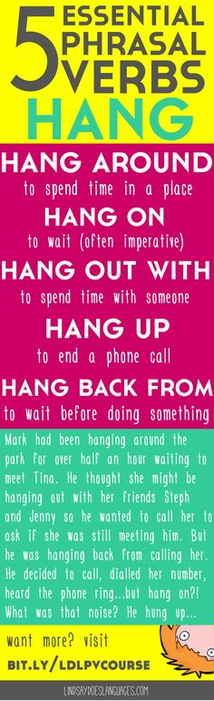5 Essential Phrasal Verbs: Hang. Struggling to understand and use phrasal verbs…