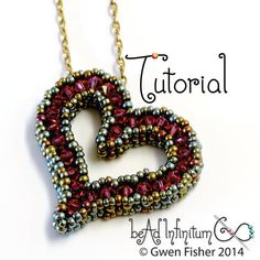 TUTORIAL Sweetheart Pendant with Beaded Cubic Right por gwenbeads