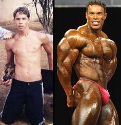 I saw this as a before and after for Kevin Levrone. Surely, this isn't possible? Regardless, Kevin is still inspiring.