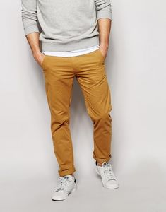 Chinos by Blend Soft-touch, woven cotton Zip fly Side pockets Two back pockets Tapered leg Slim fit - cut closely to the body Machine wash Cotton Our model wears a cm regular and is tall Tan Chinos, Skinny Chinos, Khaki Pants, What Are Chinos, Chino Shoes, Big Men Fashion, Fashion Ideas, Slim Fit Suits, Double Denim