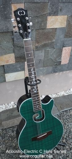 C Hole Series Acoustic-Electric Guitar by Cc Guitar Indonesia