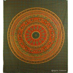 INDIAN MANDALA TAPESTRY WALL HANGING BED COVER FLORAL HIPPIE WALL HOMEDECOR