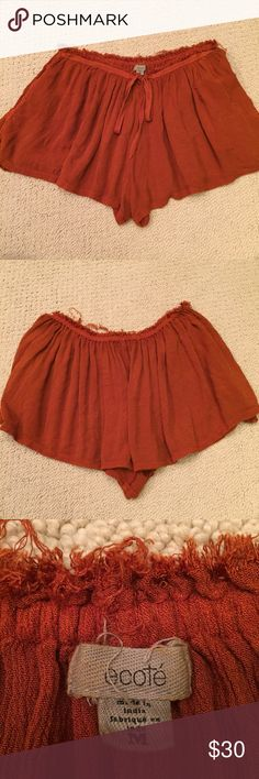 Urban outfitters soft festival shorts Ecote soft shorts from urban outfitters Urban Outfitters Shorts Skorts