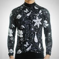Racmmer Pro Cycling Floral Jersey - long sleeve - Men s f636bb299