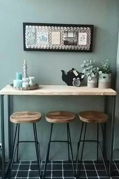 New Kitchen, Sweet Home, House Styles, Table, Furniture, Studio, Home Decor, Heart, Blog