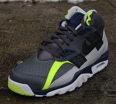 f90b089dd06aa Nike Air Trainer SC High - Grey - Navy - Volt - SneakerNews.com