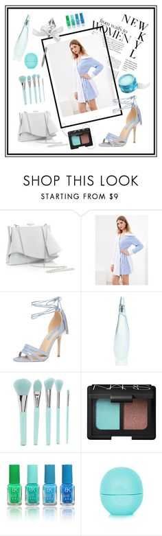 """""""wrap dress"""" by edin-levic ❤ liked on Polyvore featuring H&M, Coast, Dorothy Perkins, Donna Karan, Neutrogena, Forever 21, NARS Cosmetics and Eos"""