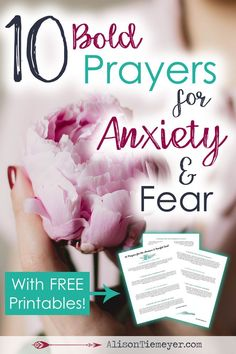 Here are 10 bold prayers for anxiety! There is power in prayer, and we are told that God hears us. Approach the throne with confidence & defeat anxiety with your most powerful weapon.