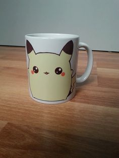 Hey, I found this really awesome Etsy listing at https://www.etsy.com/listing/221710159/chibi-pikachu-pokemon-coffee-mug