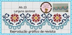Cross Stitch Embroidery, Embroidery Patterns, Stitch Patterns, Cross Stitch Letters, Cross Stitch Borders, Hobbies And Crafts, Diy And Crafts, Lace Design, Loom Beading