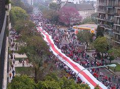 Las fotos de la Bandera Mas Larga del Mundo. (Gustavo Ortíz)