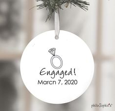 Disney Epcot Engagement Wine Tag/Ornament